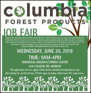 Columbia Forest Products Job Fair