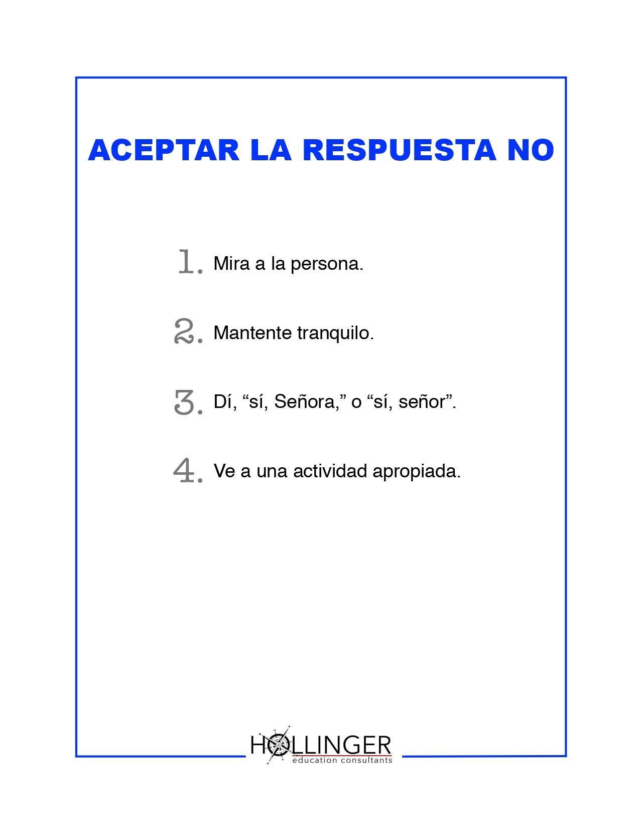 Aceptar La Respuesta No - (Spanish)