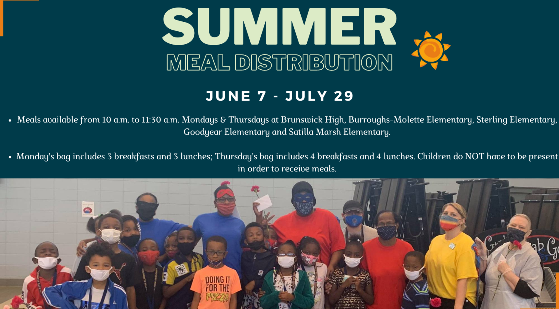 Summer Meal Distribution Graphic