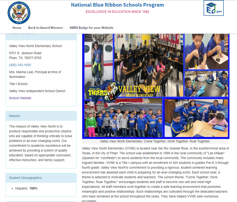 Video from Blue Ribbon Awarded to our school 2019. Thumbnail Image