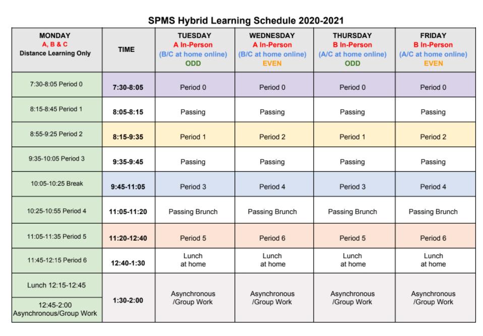 2021 Hybrid Schedule