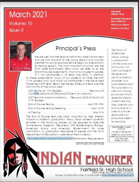 Image of the cover of the Indian Enquirer Newsletter