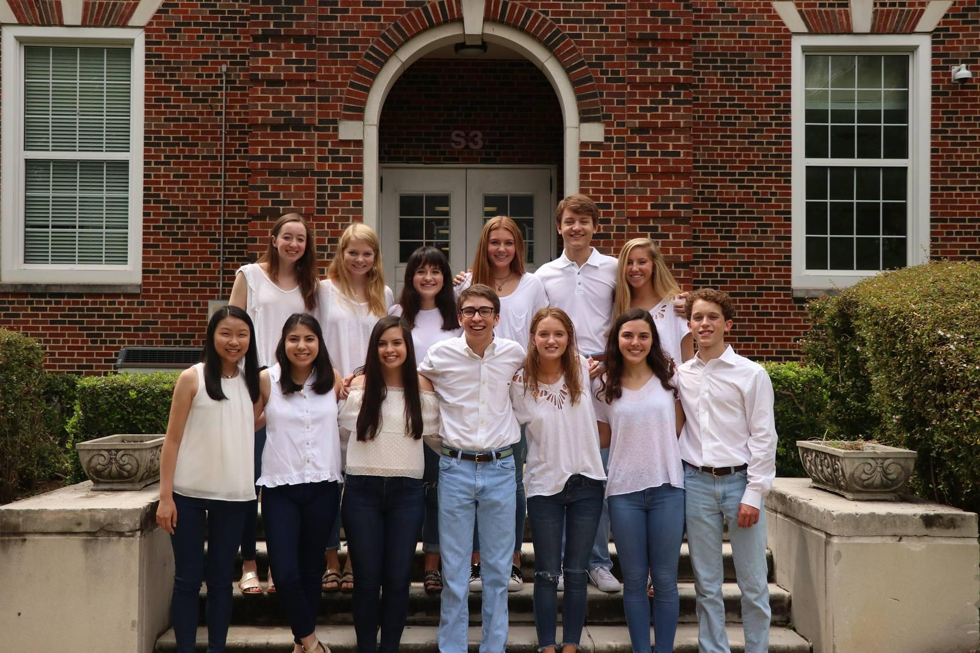 HPHS student council group photo.