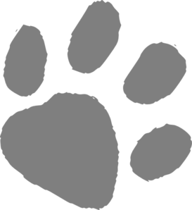 Grey Wildcat Paw Print