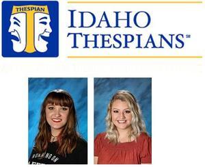 Thespian logo above headshots of Madison Pittz and Melanie Stringam.