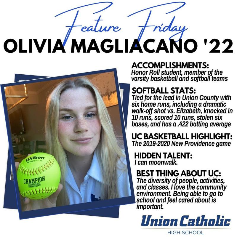 Olivia Magliacano is starring on and off the softball field for Union Catholic Thumbnail Image