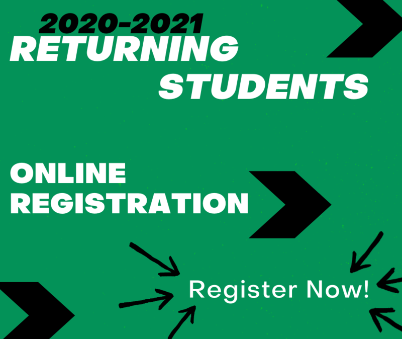Returning Student Online Registration for the 20-21 School Year is NOW AVAILABLE!! Thumbnail Image