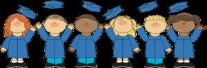 kids in caps