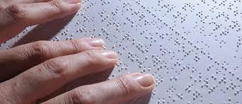 Braille Document someone is reading