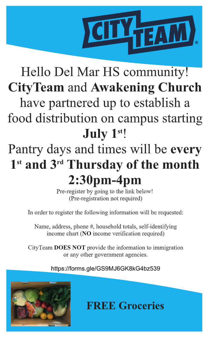 mobile food pantry info flyer in english