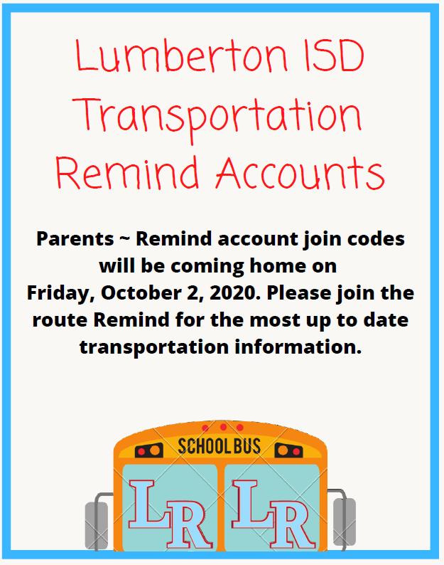 LISD Transportation Remind