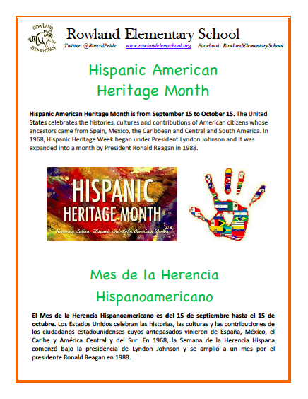 National Hispanic Heritage Month, September 15 - October 15 Featured Photo