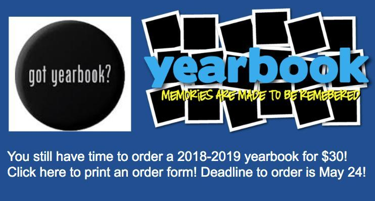 $30 Yearbook by May 24