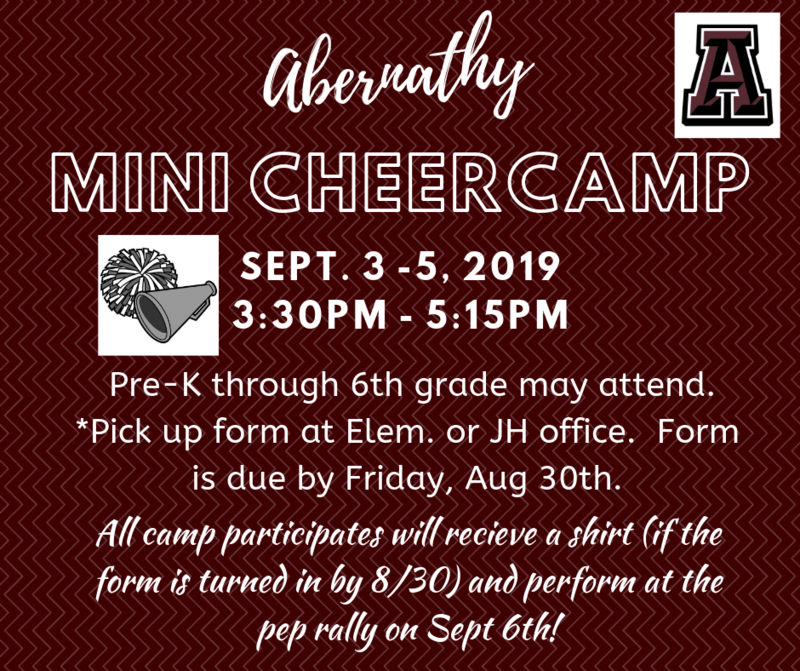 Abernathy Mini Cheer Camp Featured Photo