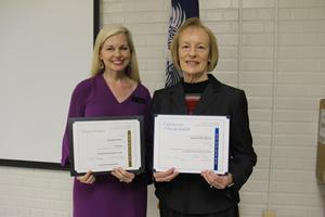 Congratulations to Lexington Three Board members Gariane Gunter (left), Frances Bouknight (right) and Sonya Cary (not pictured) on their recent recognitions from the SC School Boards Association.
