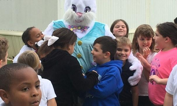 The Easter Bunny Visits Students at GCE