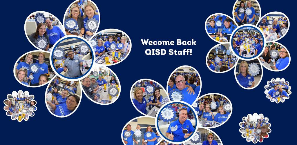 Pics of staff inside flowers at Taste of Tawakoni 2019.  Welcome back QISD Staff!  Click here for photo album...