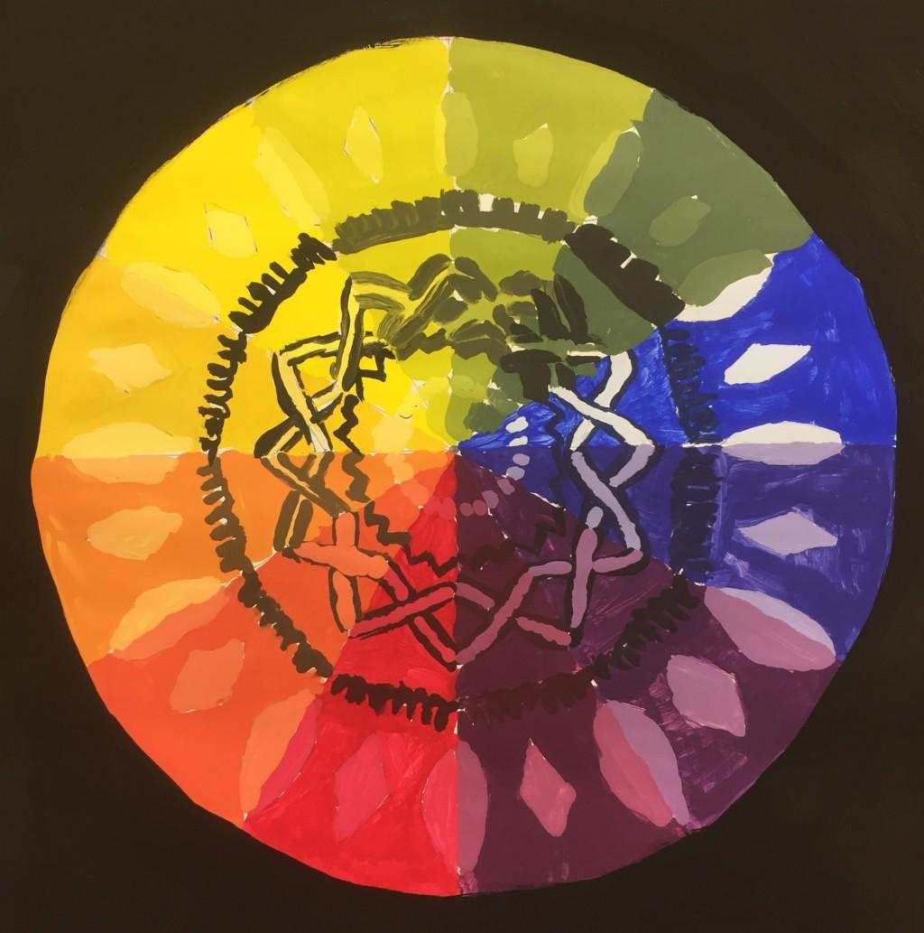 radial color wheel