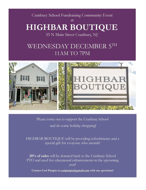 PTO Holiday Shopping Fundraiser at HIGHBAR BOUTIQUE Featured Photo