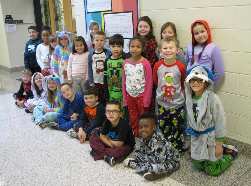 Mrs. Hutcherson's Class earned a Pajama Day by reading the most books in grades K-2.  Way to go!!!