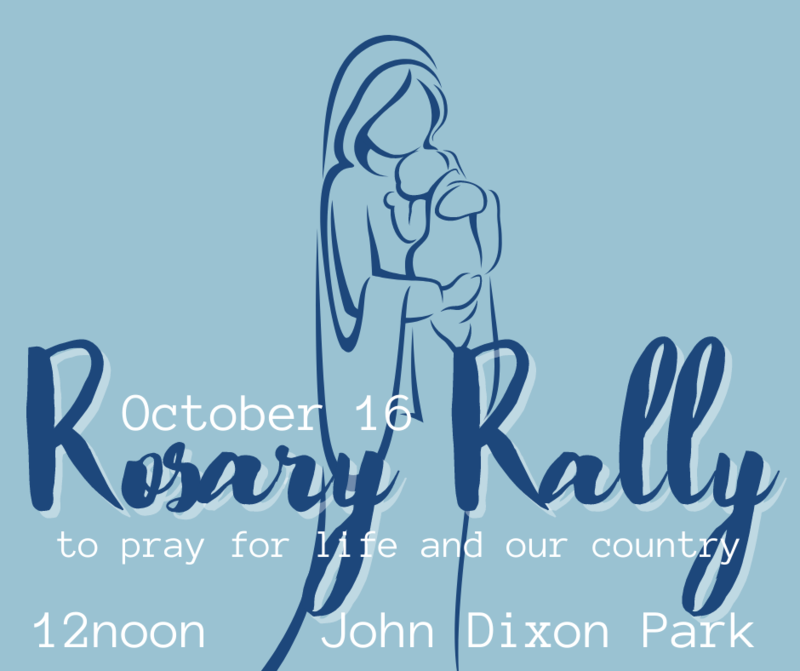 Oct. 16th Rosary Rally to Pray for Life & Our Country Thumbnail Image