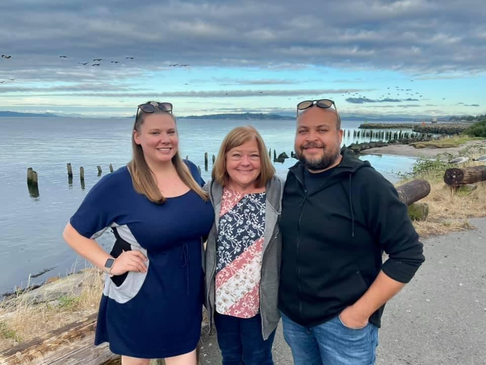 My son Darian and his wife Lauren- Oregon coast!