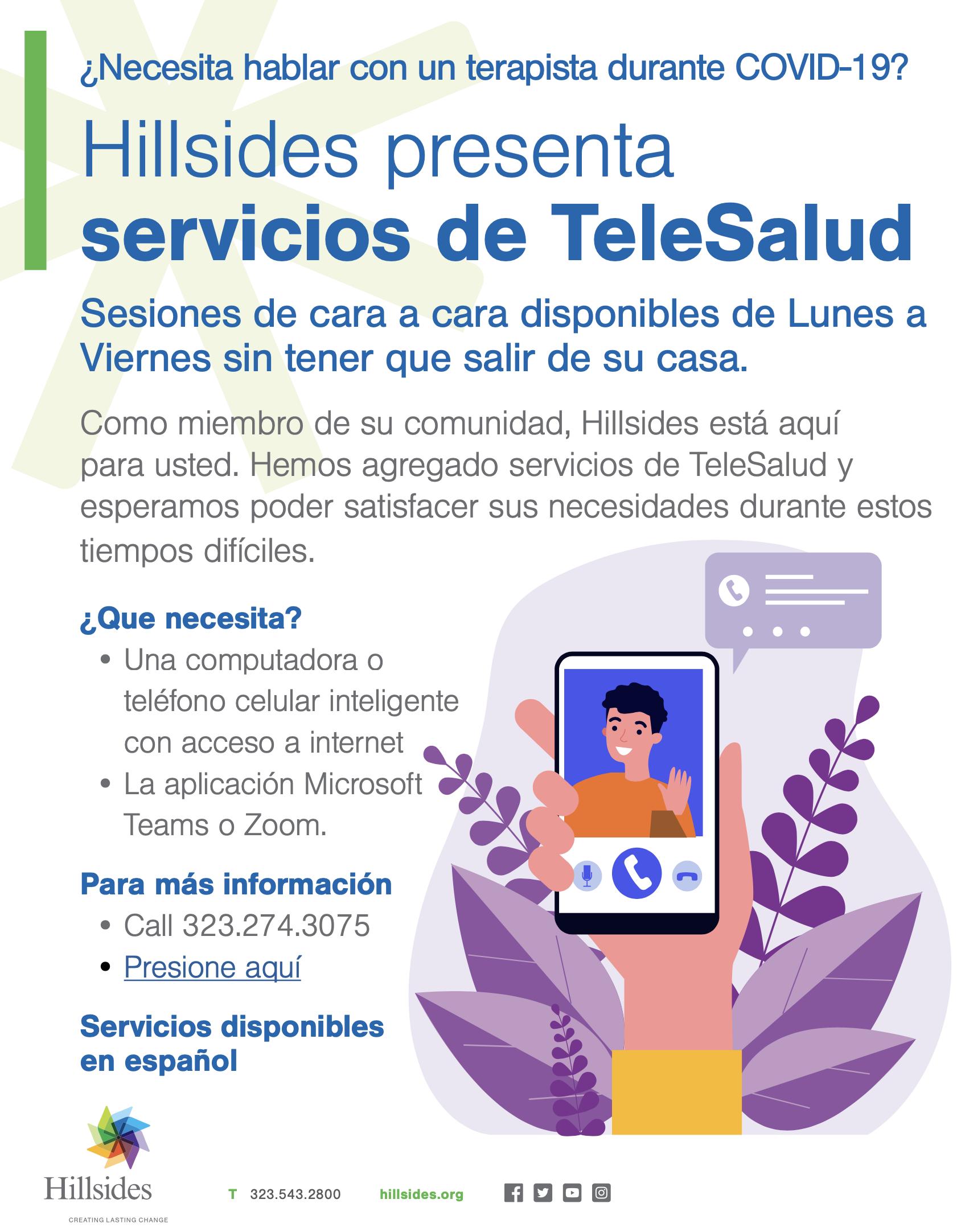 Hillsides TeleHealth Spanish