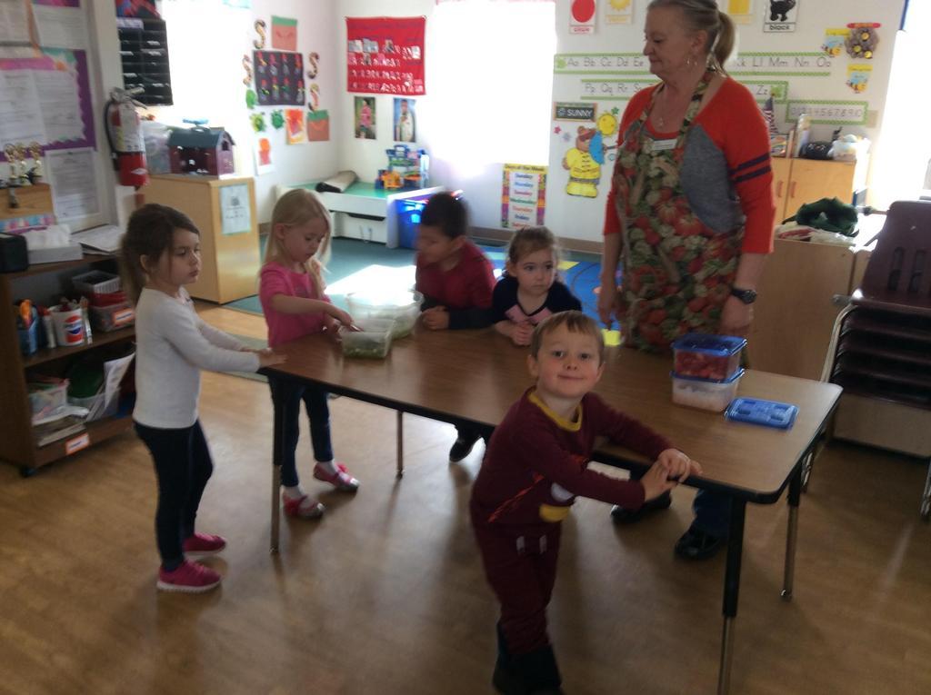 children and their teacher
