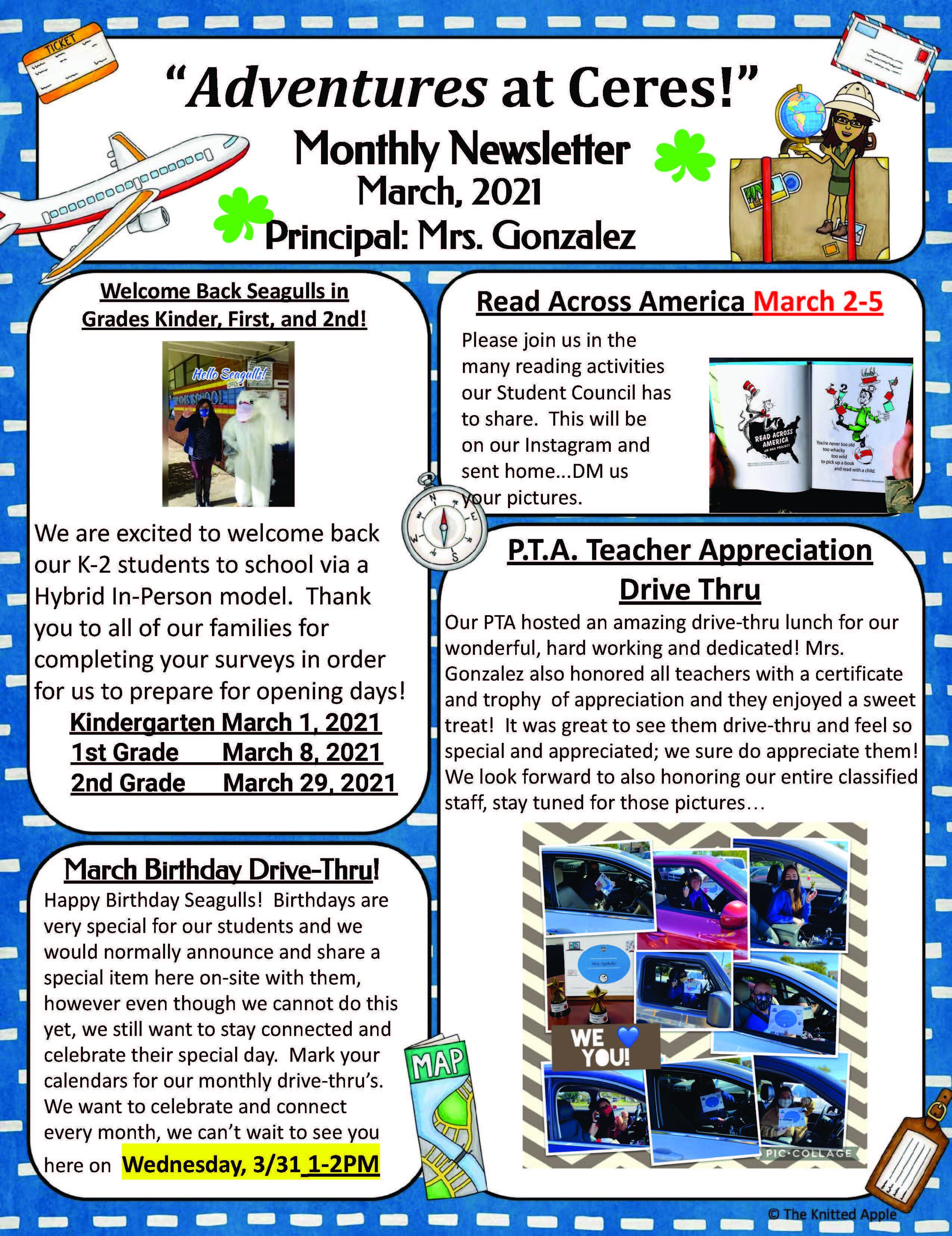 March Newsletter Pg 1