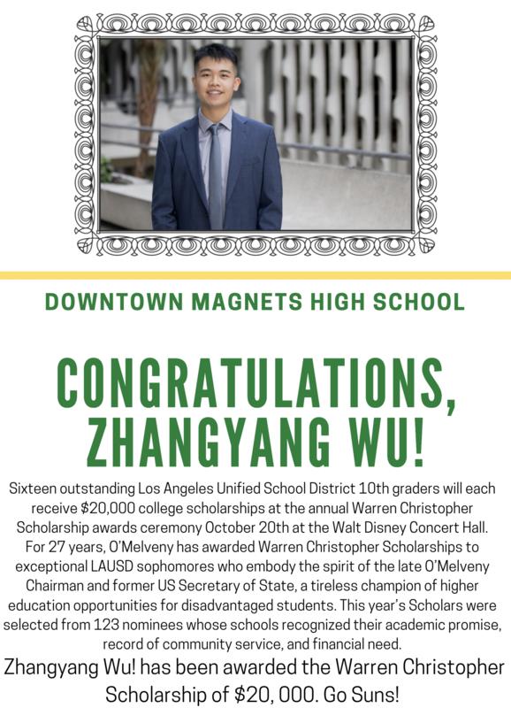 Congratulations Zhangyang Wu! Featured Photo