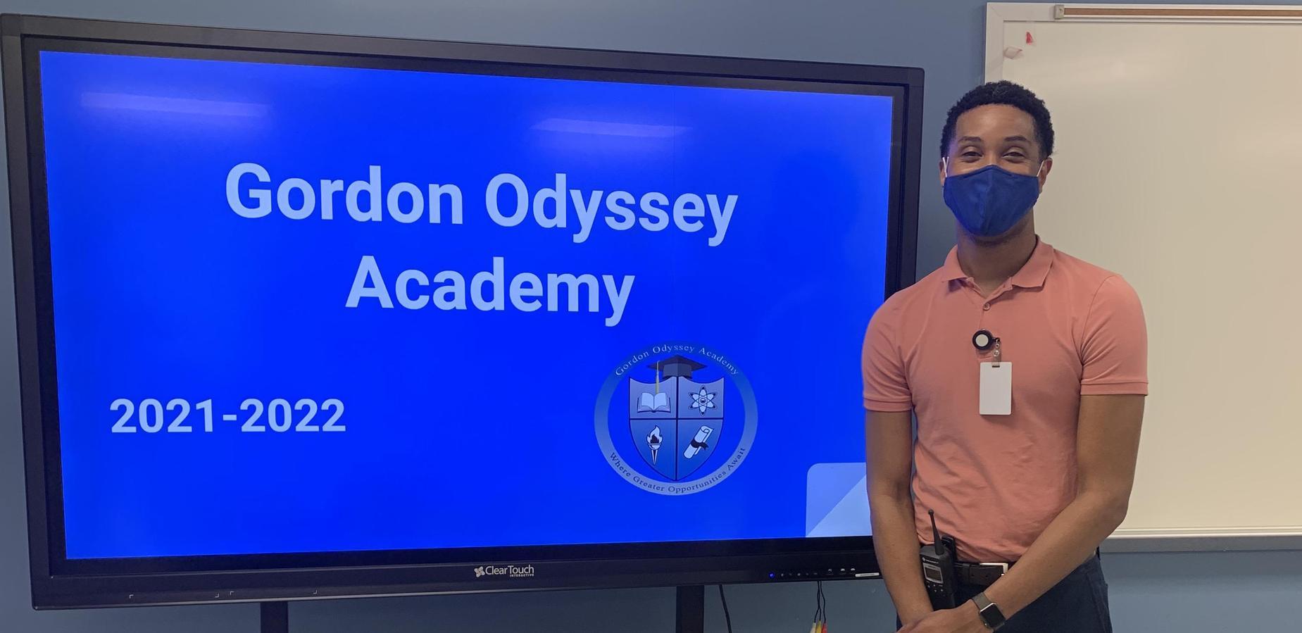 Mr. Dixon preparing to welcome staff!