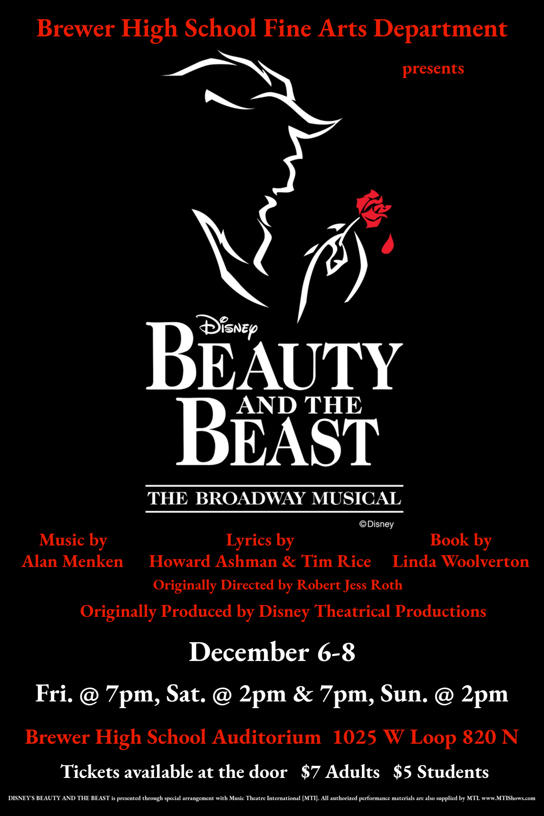 Beauty and the Beast Dec. 6 - 8