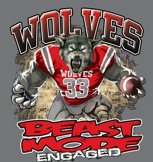 Wolf Football Beast Mode image