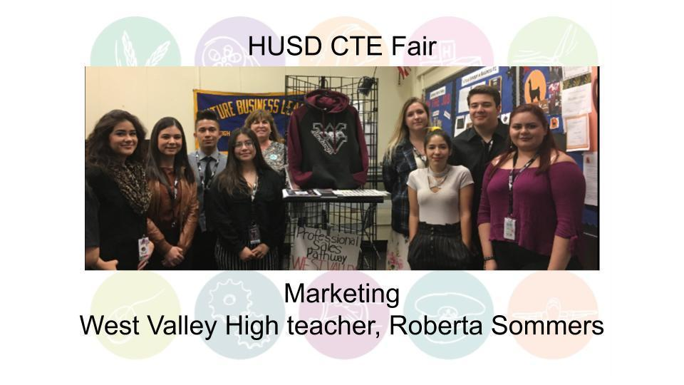 Marketing West Valley High teacher, Roberta Sommers