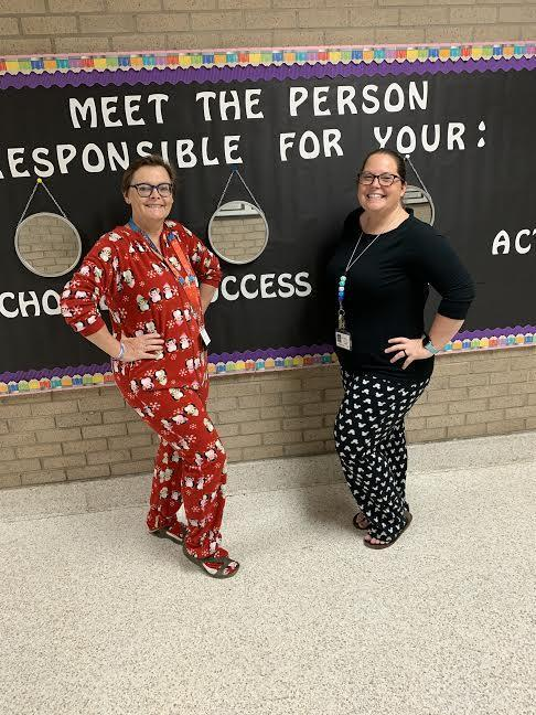 Pajama Day for Mrs. Florence and Mrs. Parker