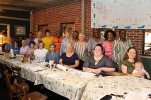 Volunteers for the Lexington County School District Three Mentoring and Reading Buddies Program came together on August 29th at Wiz's Eatery to kick off the new school year.