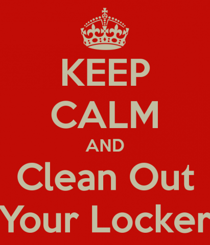 LAST CALL TO CLEAN OUT YOUR LOCKERS!! Featured Photo