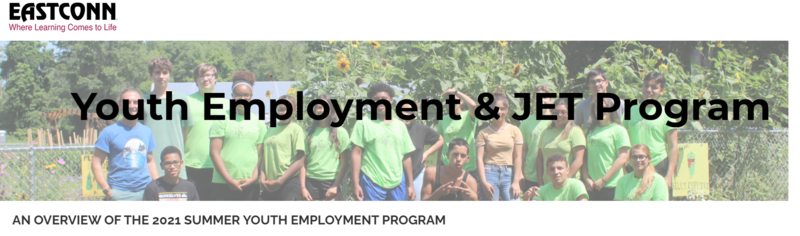 EASTCONN's CT Youth Employment Program 2021 is now accepting applications! Thumbnail Image
