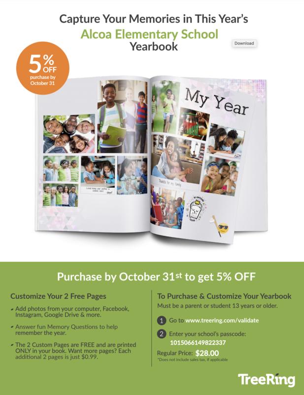 Yearbook 5% flyer
