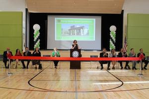Ribbon Cutting of Stacey Gym