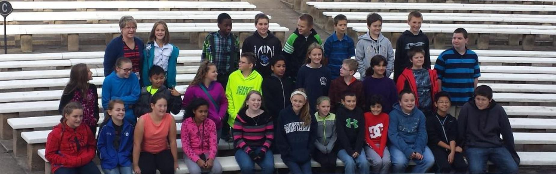 Students on Bleachers Picture