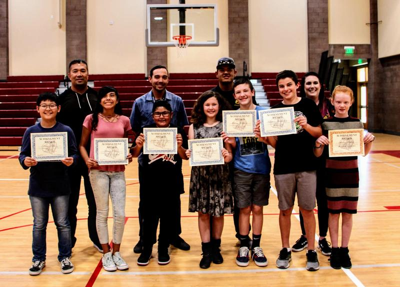7th grade students earn Honor Roll and Principal's List at their 1st quarter assembly. Thumbnail Image