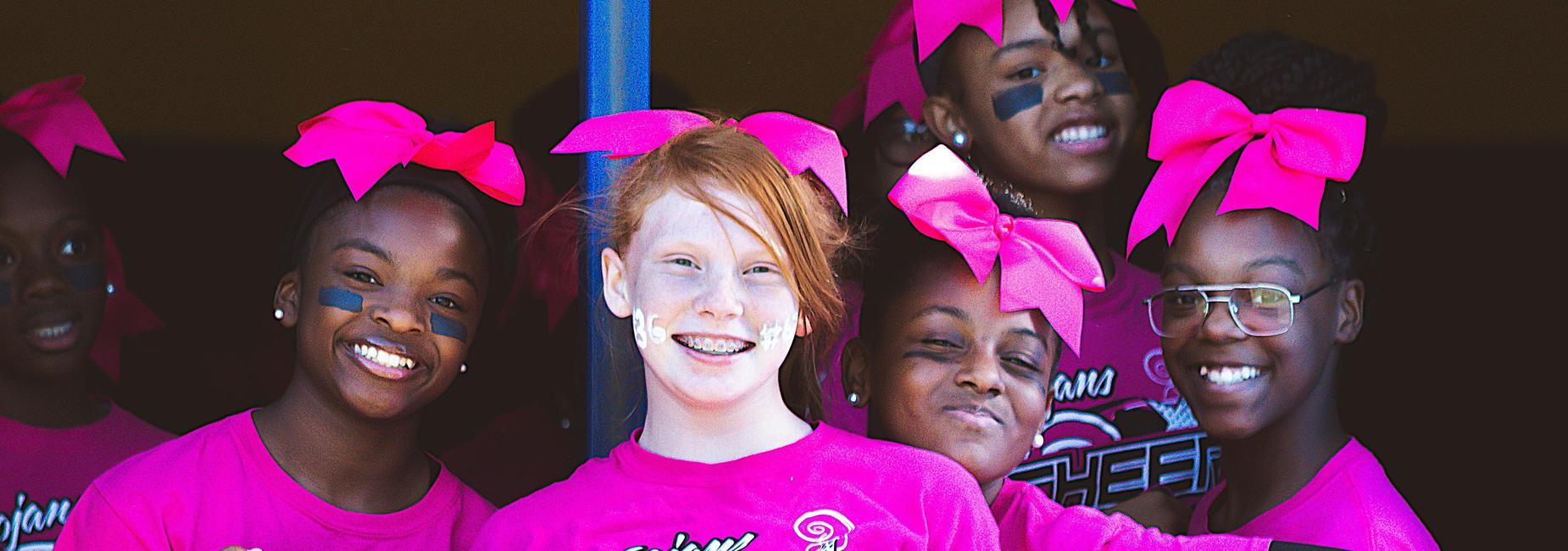 Nash Central Middle School cheerleaders