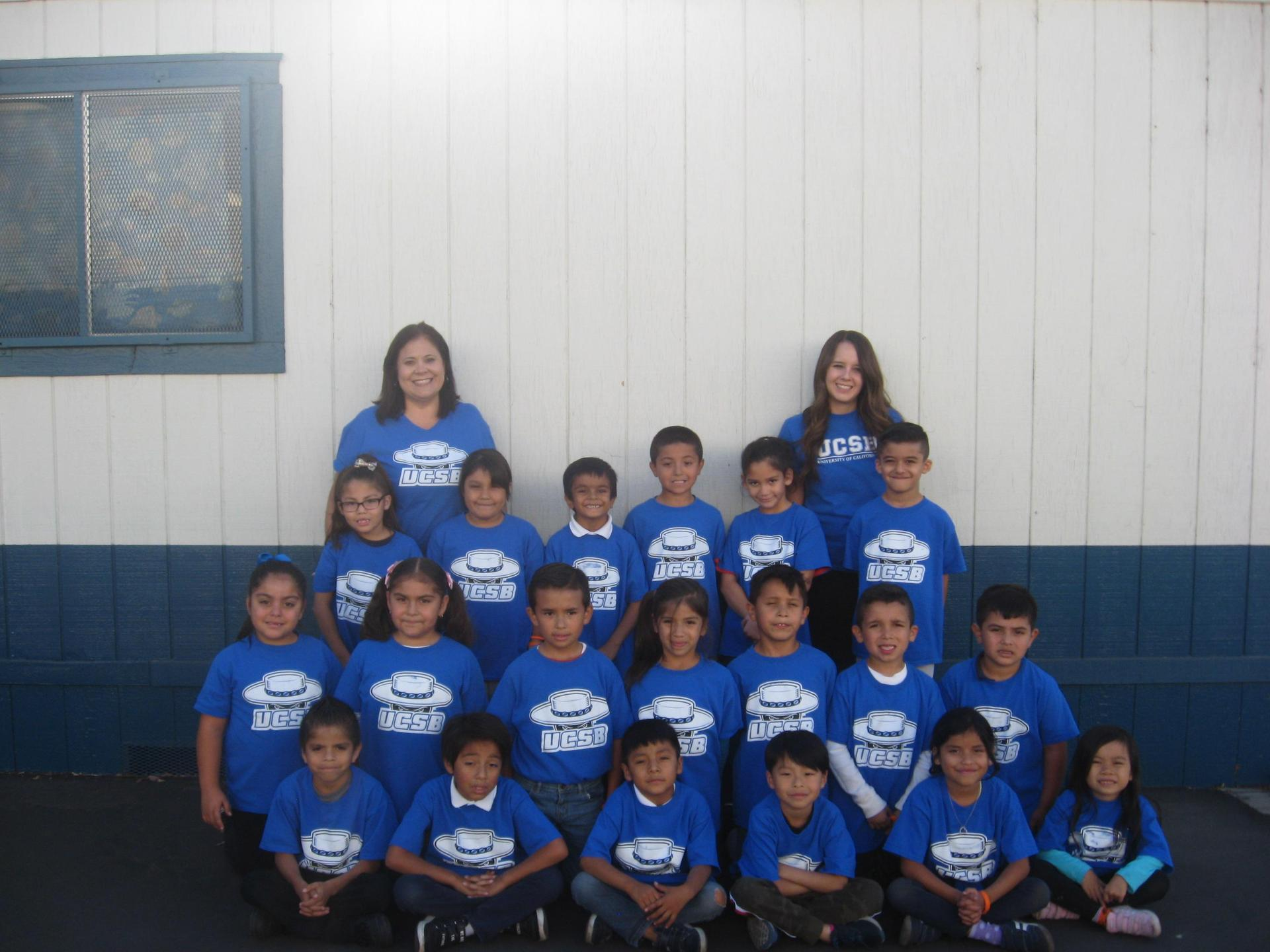 Mrs. Ortiz and her class