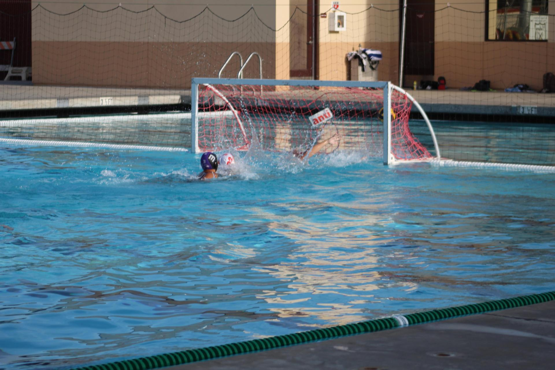 Boys playing water polo