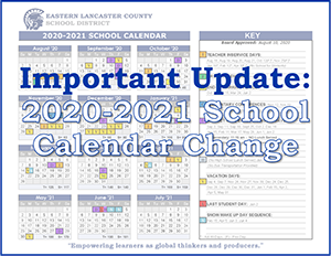 Important Update: Calendar Change Banner