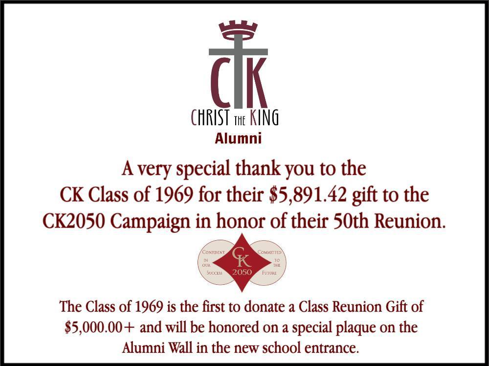 CK 1969 Class Gift