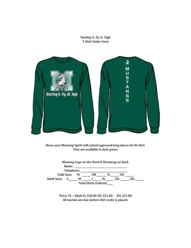Mustang Spirit Shirts Order Form Featured Photo