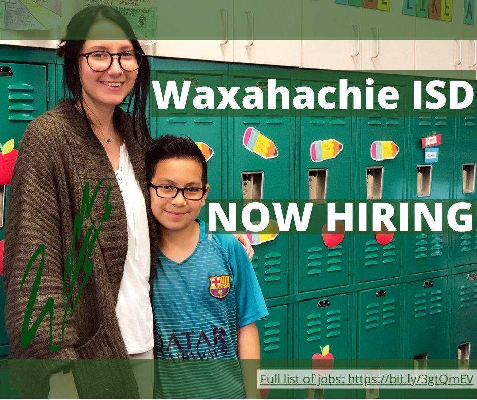 graphic with woman with boy in front of lockers that reads WISD now hiring