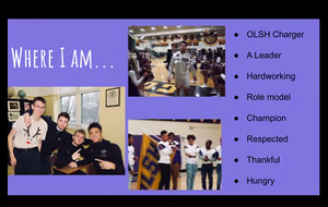 screen shot from OLSH senior presentation titled where I am
